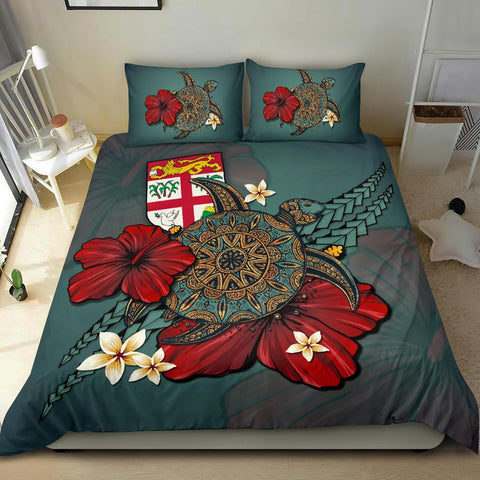 Image of Fiji Bedding Set - Blue Turtle Tribal A02