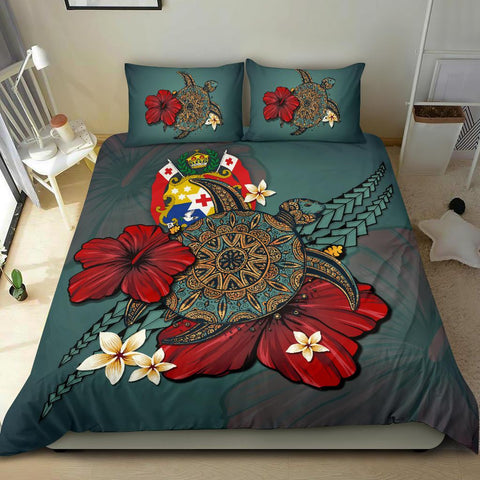 Tonga Bedding Set - Blue Turtle Tribal A02