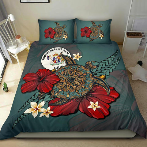 Niue Bedding Set - Blue Turtle Tribal A02