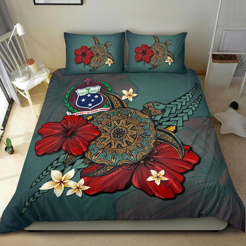 Image of Samoa Bedding Set - Blue Turtle Tribal A02