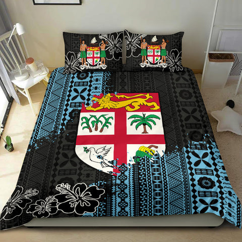 Image of Fijian Masi Bedding Set - Fijian Tapa K5
