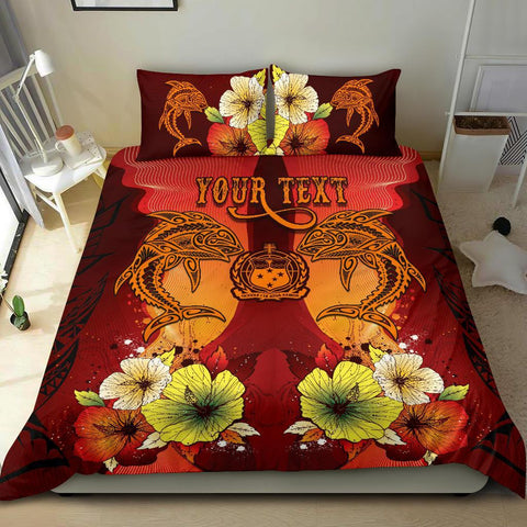 Samoa Custom Personalised Bedding Sets - Tribal Tuna Fish - BN39
