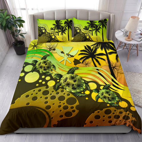 Hawaii Bedding Set -  Reggae Turtle Hibiscus  A24