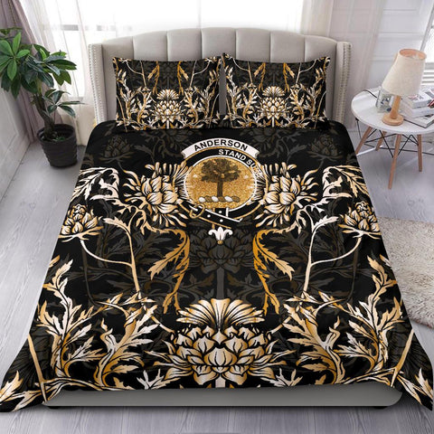 Anderson Bedding Set - Gold Scottish Thistle | Over 300 Clans | Home Set