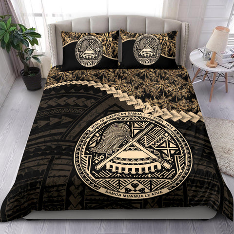 American Samoa Bedding Set Golden Coconut A02