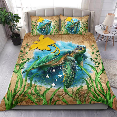 Image of Papua New Guinea Bedding Set Sea Turtle Vintage
