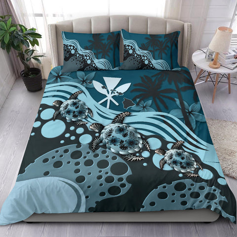 Hawaii Bedding Set - Blue Turtle Hibiscus A24