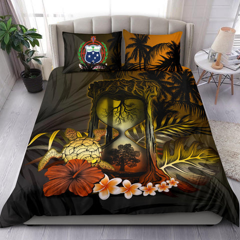 Samoa Bedding Set - Samoan Tree Of Life Hourglass A18