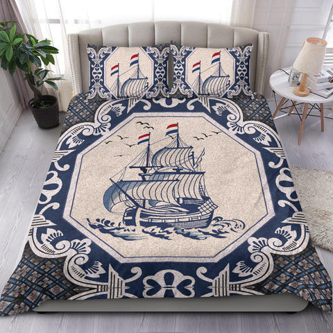 Nederland Bedding Set - Dutch Boat Delft Blue A18