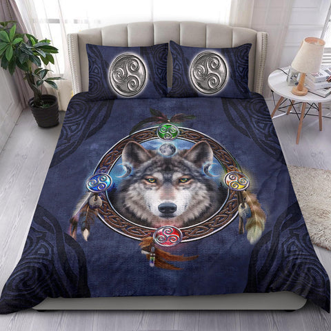 Celtic Wolf - Celtic Bedding Set A18
