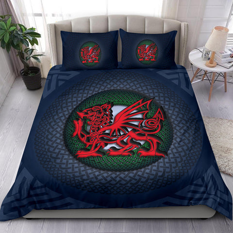 Welsh Bedding Set - Blue Celtic Dragon A18