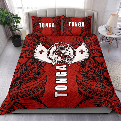 Image of Polynesian Bedding Set - Tonga Duvet Cover - Tonga Wings