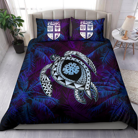 Fiji Bedding Set - Tapa Turtle Tattoo Coconut Tree A24
