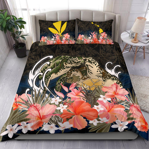 Kanaka Maoli (Hawaiian) Bedding Set Turtles Love Hibiscus TH5