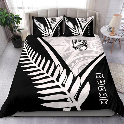Image of New Zealand Rugby Bedding Set - New Zealand Fern & Maori Patterns