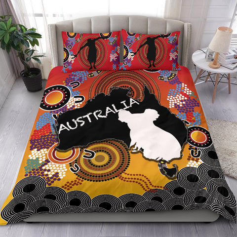 Australia Aboriginal Bedding Set With Map