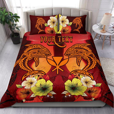 Hawaii Custom Personalised Bedding Sets - Tribal Tuna Fish - BN39