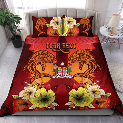 Fiji Custom Personalised Bedding Sets - Tribal Tuna Fish