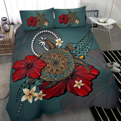 Chuuk Bedding Set - Blue Turtle Tribal A02