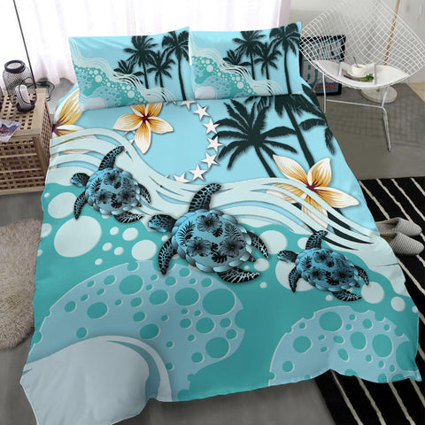 Cook Islands Bedding Set - Blue Turtle Hibiscus A24