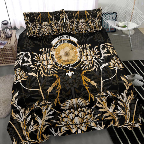 Cairns Bedding Set - Gold Scottish Thistle | Over 300 Clans | Home Set