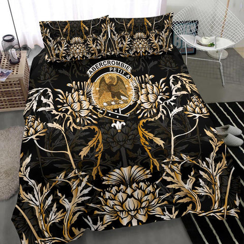 Abercrombie Bedding Set - Gold Scottish Thistle | Over 300 Clans | Home Set