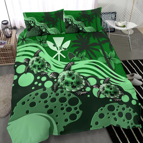 Hawaii Bedding Set - Green Turtle Hibiscus A24