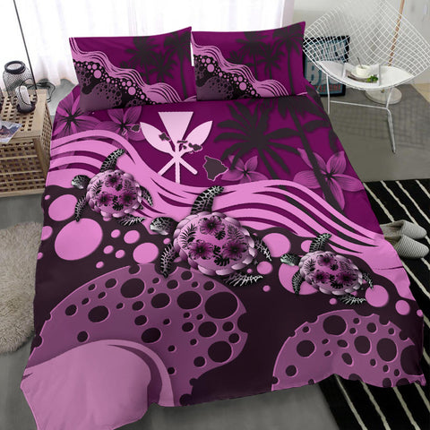 Hawaii Bedding Set - Pink Turtle Hibiscus A24