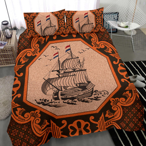 Nederland Bedding Set Orange - Dutch Boat Delft Blue A18
