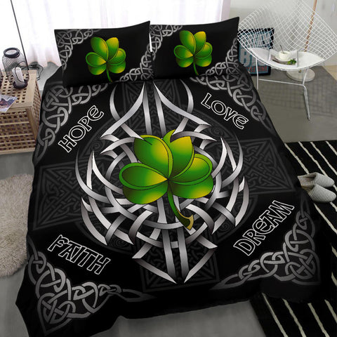 Irish Bedding Set - Celtic Shamrock and Cross A18