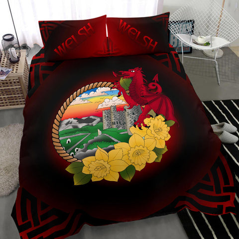 Welsh Bedding Set - Wales Dragon and Daffodil A18