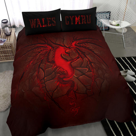 Image of Wales Bedding Set, Welsh Dragon Lava | Home Decor | Love The World