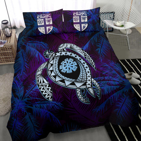 Image of Fiji Bedding Set - Tapa Turtle Tattoo Coconut Tree A24