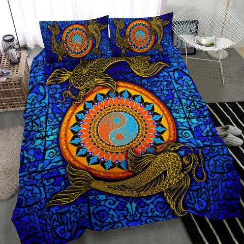 Koi Fish Bedding Set - Koi Fish Yin Yang - BN02