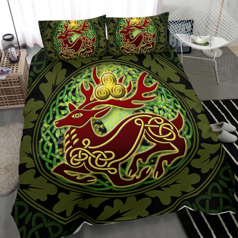 Celtic Deer with Tree of Life Bedding Set - The God of the Forest - BN21