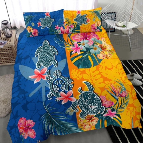 Hawaii Bedding Set Polynesian Turtle Special K13