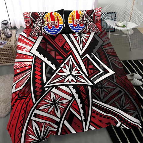 Tahiti Bedding Set - Tribal Flowers Special Pattern Red Color - BN20