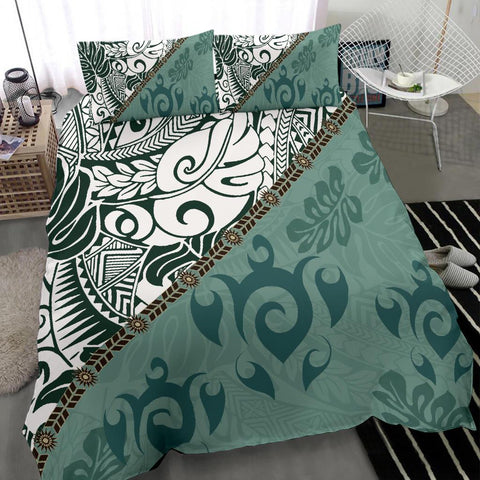 Polynesian Bedding Set - Leaves And Turtles - BN20