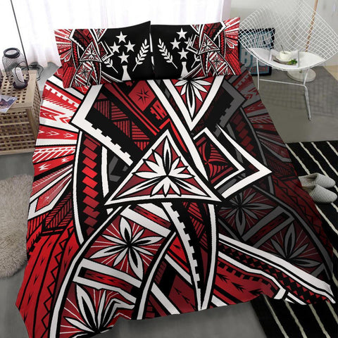 Kosrae Polynesian Bedding Set - Tribal Flower Special Pattern Red Color - BN20