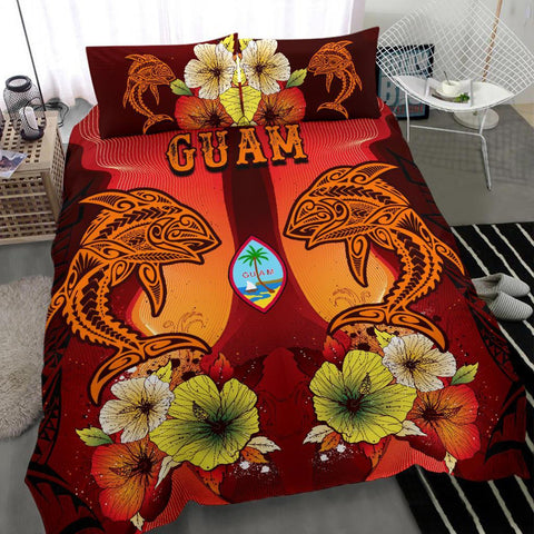 Guam Bedding Sets - Tribal Tuna Fish - BN39