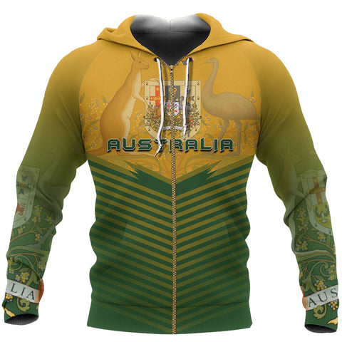 Australia Coat Of Arms Zip-up Hoodie - Energy Style