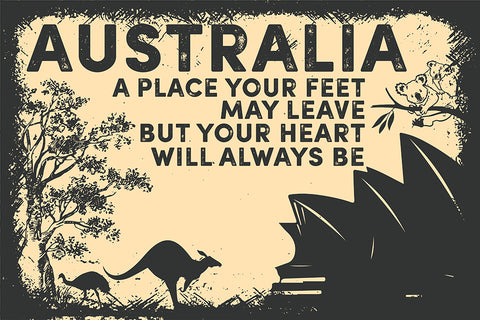 Australia Poster - Your Heart Always Be TH0