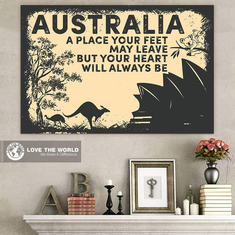 Australia Poster - Your Heart Always Be | 1sttheworld.com