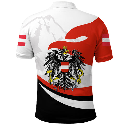 Image of Austria Polo Shirt Proud Version Back | 1sttheworld