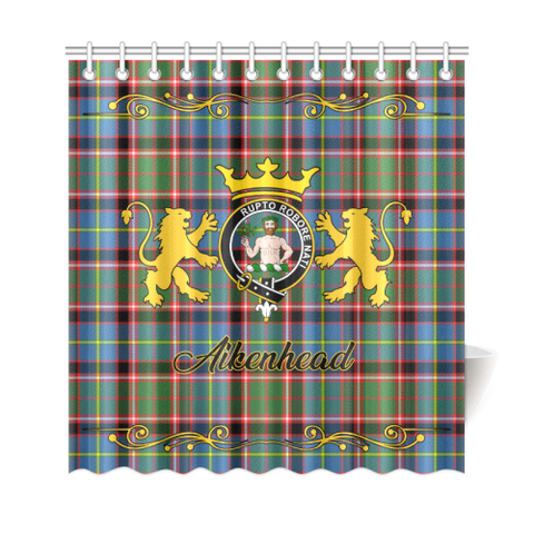 Image of Tartan Shower Curtain - Aikenhead Clan | Scottish Home Set | Over 300 Clans