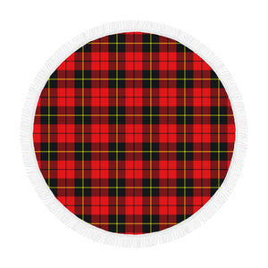 WALLACE HUNTING - RED TARTAN BEACH BLANKET th8