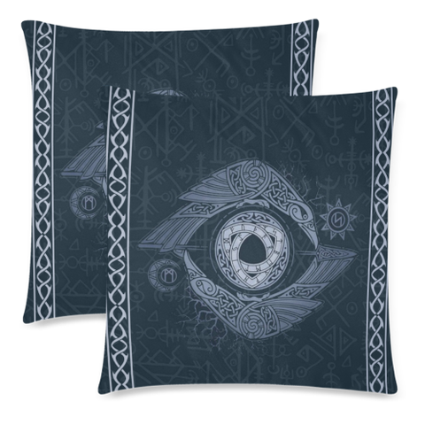 Viking Cover- Odin'S Eye Pillow Cover Nn8 | 1sttheworld.com