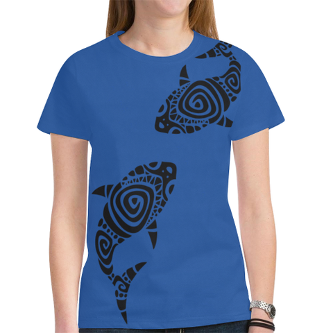 Hawaii T-shirt - Blue t shirt - t-shirt women - t-shirt men