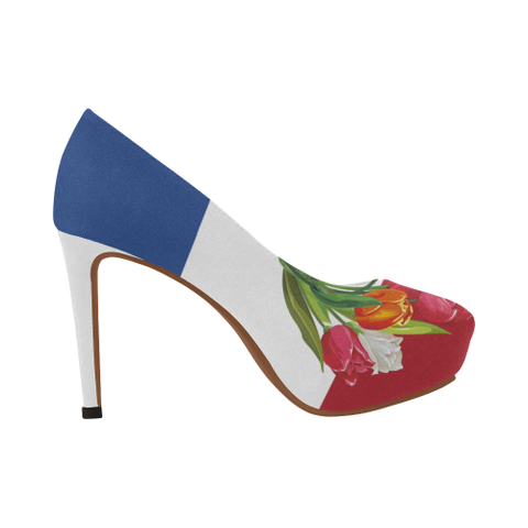 Netherlands High Heel Pumps  - Tulip On Flag A1 |Footwear| 1sttheworld