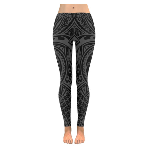 Hawaii Polynesian Leggings Turtle - Front Half Style